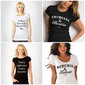 Tricouri cu mesaje interesante