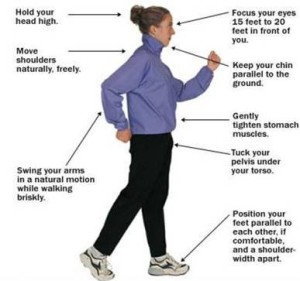 Tips on the right way to walk naturally