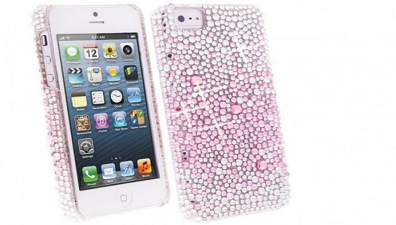 Detalii despre husa iPhone 5s 5 Flip Design Diamante