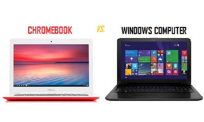 Chromebook vs. laptop cu Windows – software
